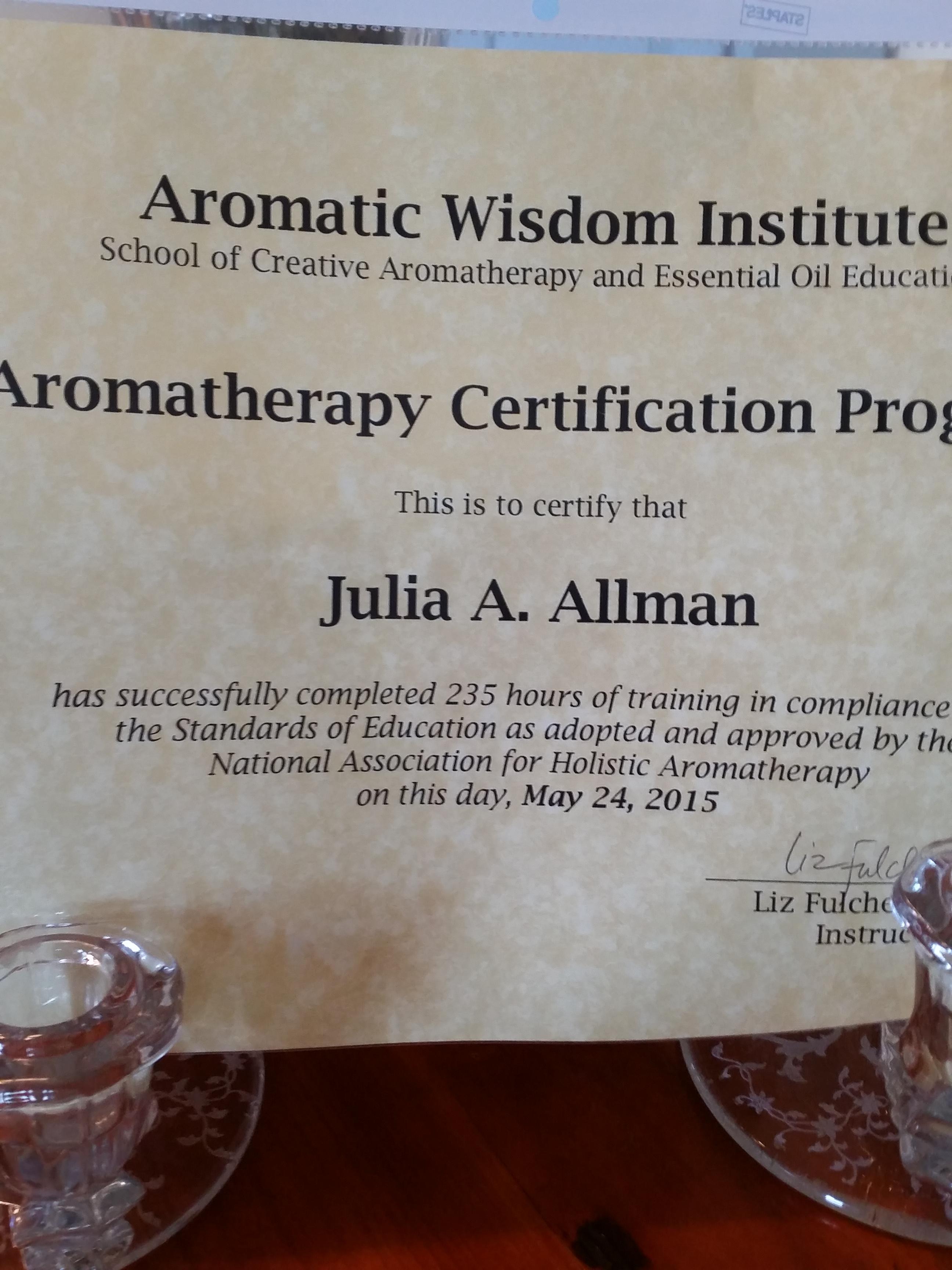 Certification Honest Aromas