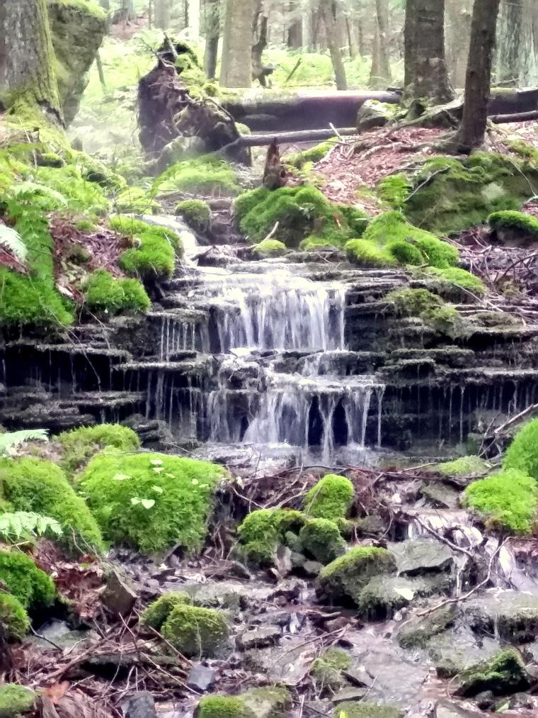 Edited waterfall